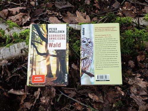 Cover und Buchrückseite von Peter Wohllebens Werk Gebrauchsanweisung für den Wald
