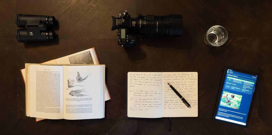 Vorbereitung und Planung zum Fotografieren von Fasanen