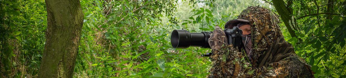 Wildtierfotograf in Aktion