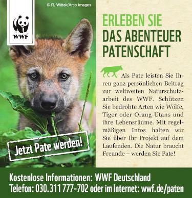 WWF Werbebanner - Patenschaft übernehmen